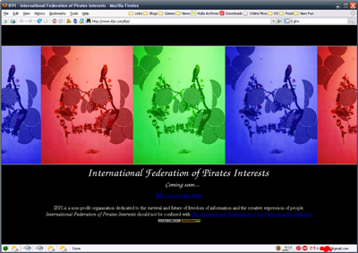 screenshot of IFPI.com